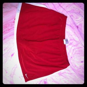 Red Nike tennis skort
